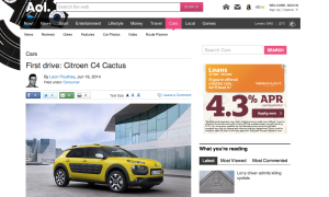 Citroen C4 Cactus first drive review AOL Cars UK