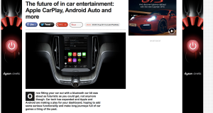 The future of in car entertainment feature for T3.com