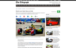 Electric cars for The Telegraph